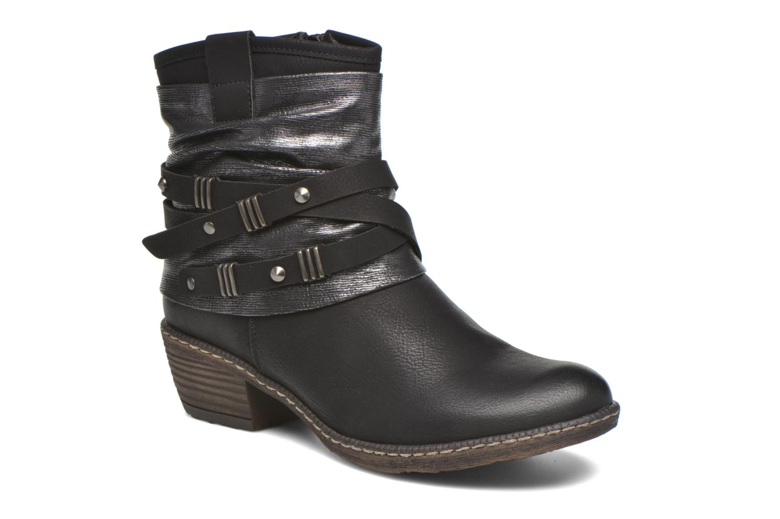 Ankle boots Rieker Gil K1483 Black detailed view/ Pair view