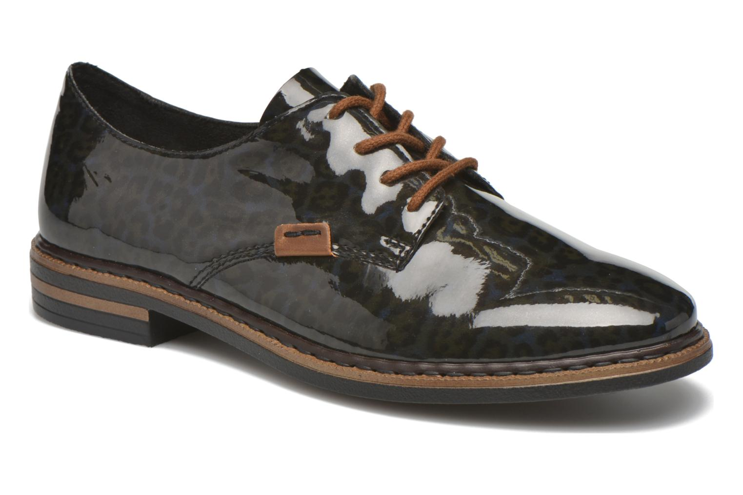 Lace-up shoes Rieker Mud 50614 Blue detailed view/ Pair view