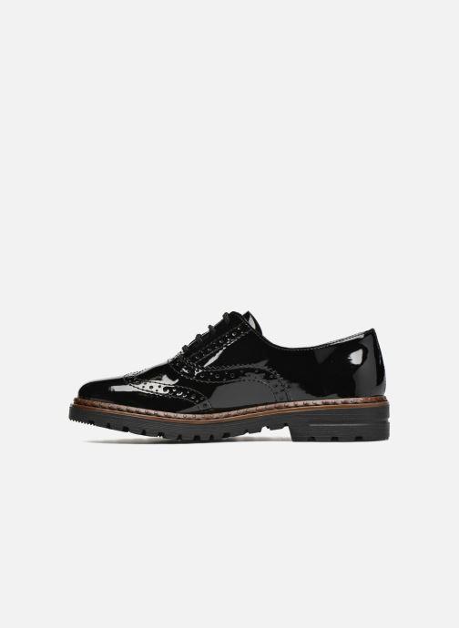 Lace-up shoes Rieker Lisa 54812 Black front view