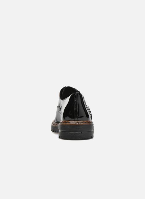 Zapatos con cordones Rieker Lisa 54812 Negro vista lateral derecha