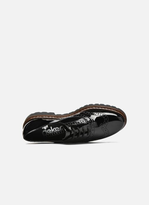 Chaussures à lacets Rieker Lisa 54812 Noir vue gauche