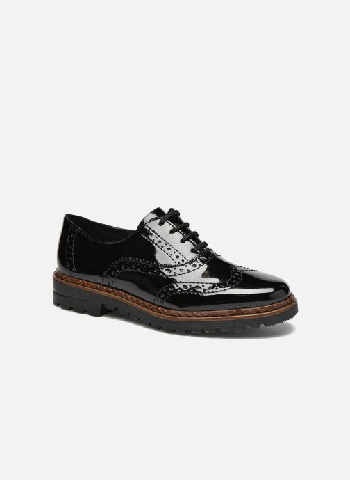 Zapatos con cordones Rieker Lisa 54812 Negro vista de detalle / par