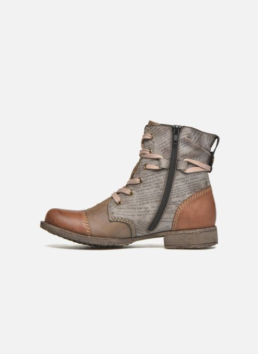 Ankle boots Rieker Pia 70822 Brown front view