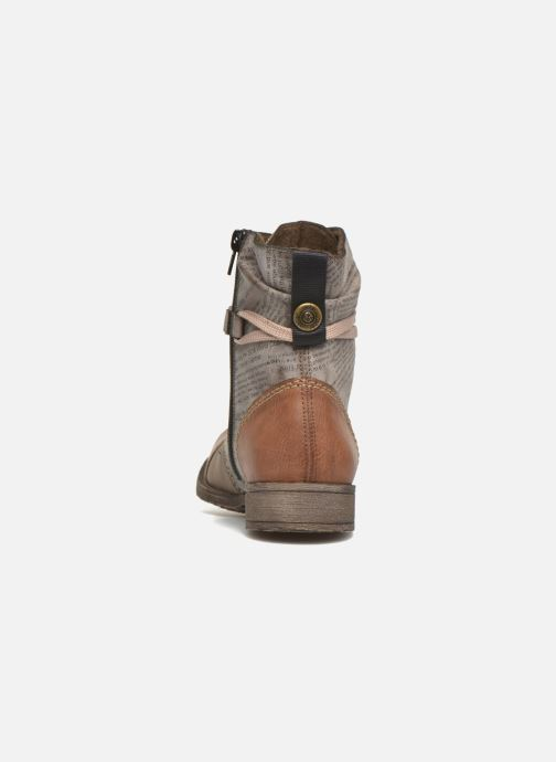 Ankle boots Rieker Pia 70822 Brown view from the right