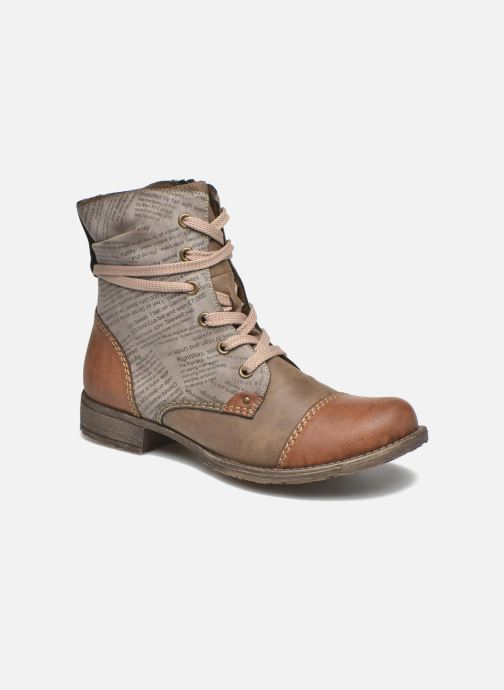 Ankle boots Rieker Pia 70822 Brown detailed view/ Pair view