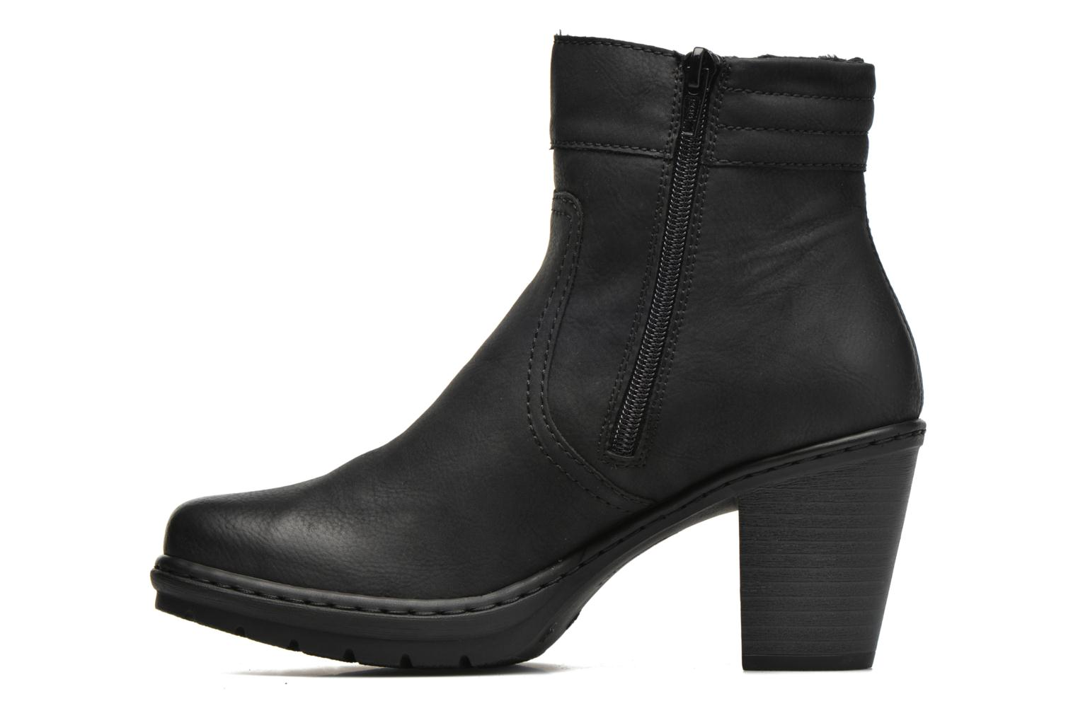 Ankle boots Rieker June Y1553 Black front view