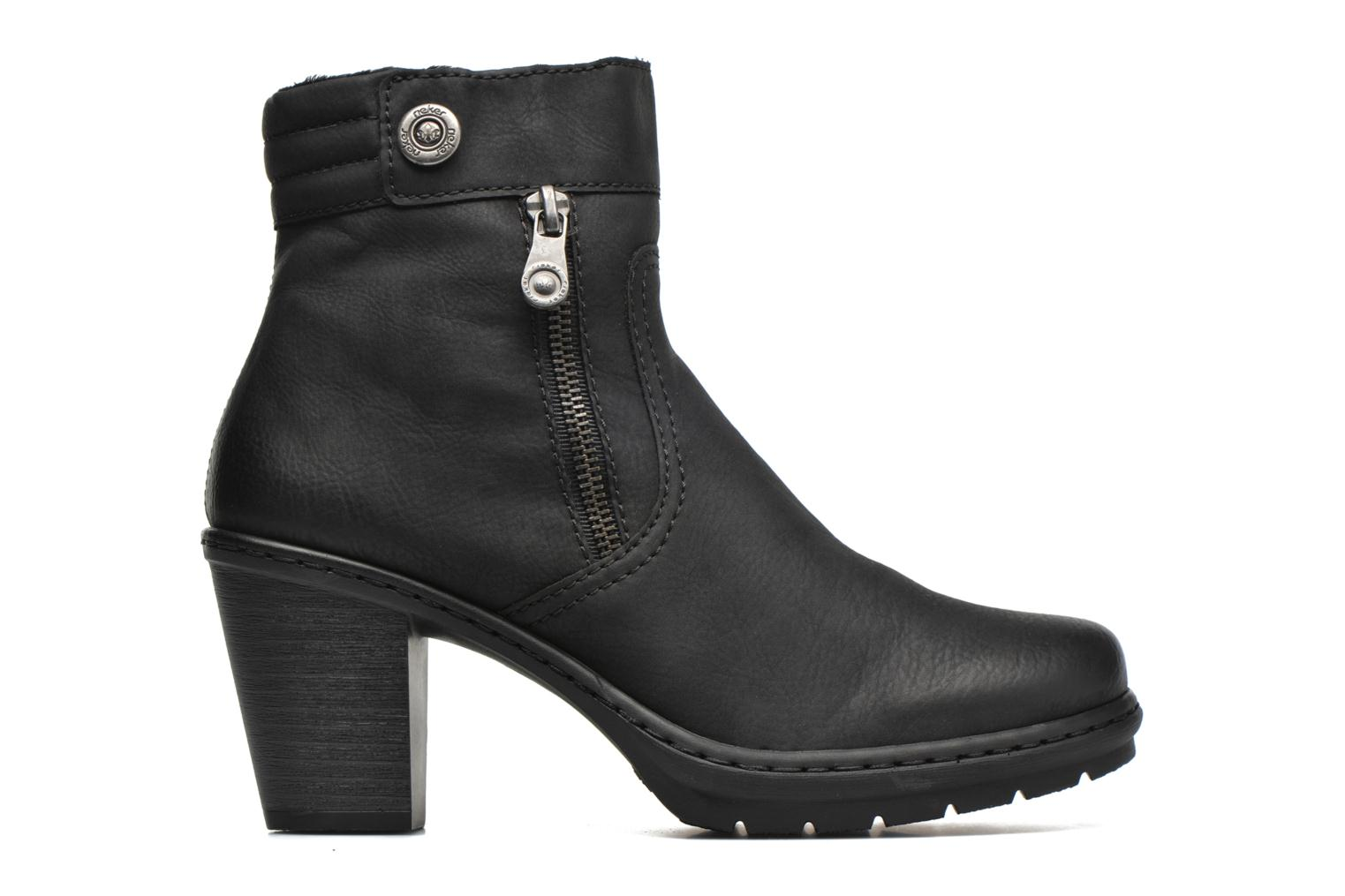Ankle boots Rieker June Y1553 Black back view