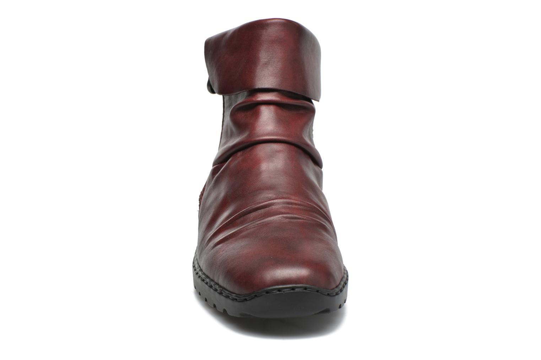 Bottines et boots Rieker Mag Z6083 Rouge vue portées chaussures