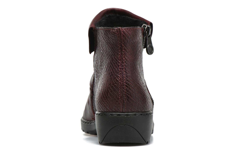 Bottines et boots Rieker Mag Z6083 Rouge vue droite