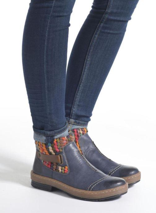 Bottines et boots Rieker Ambre Z6784 Multicolore vue bas / vue portée sac