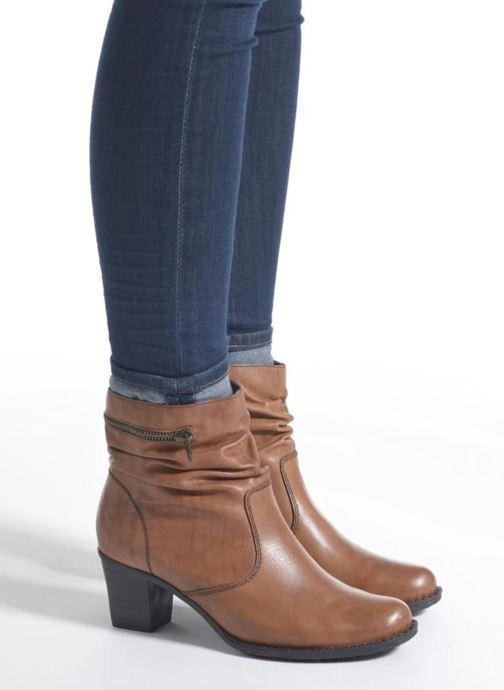 Bottines et boots Rieker Lina Z7651 Marron vue bas / vue portée sac