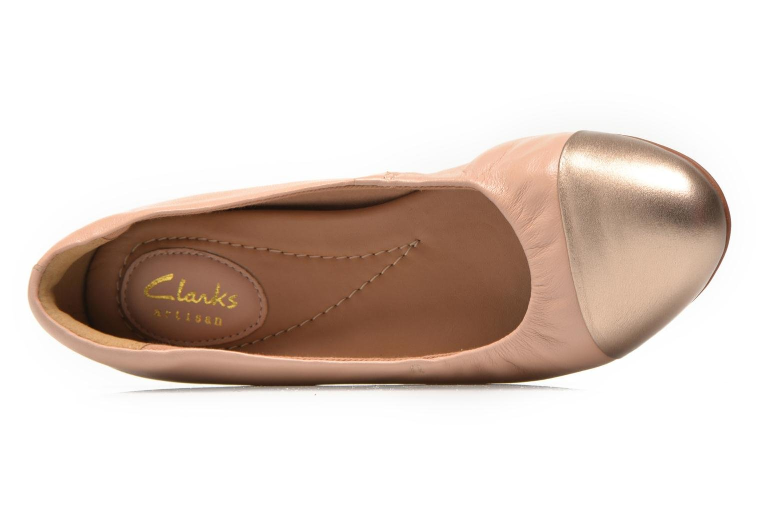 Ballet pumps Clarks Alitay Susan Beige view from the left