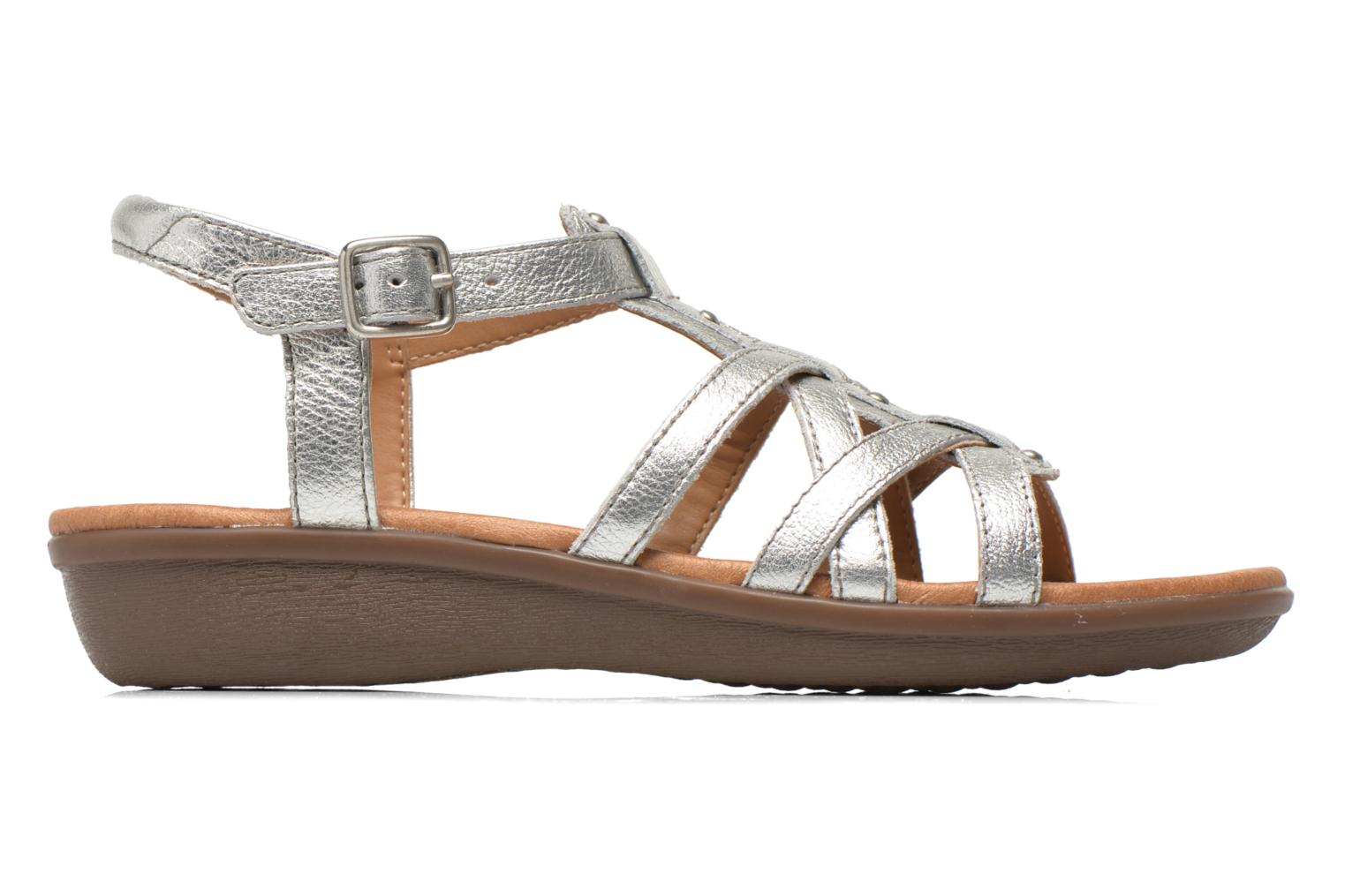 Sandals Clarks Manilla Bonita Silver back view