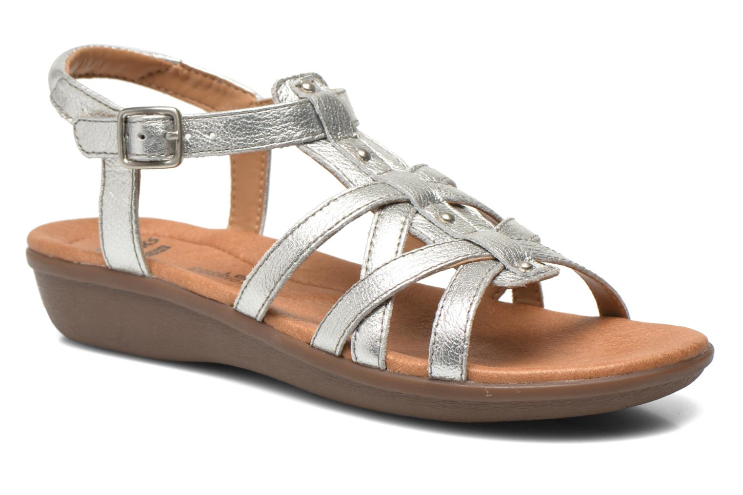 Sandals Clarks Manilla Bonita Silver detailed view/ Pair view