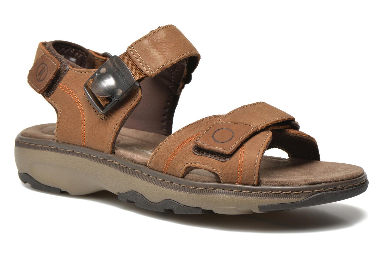 Sandales et nu-pieds Clarks RaffeSun Marron vue détail/paire