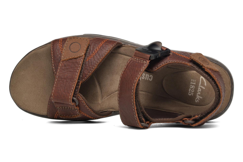 Sandales et nu-pieds Clarks RaffeSun Marron vue gauche