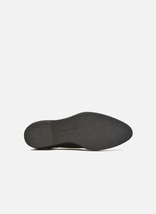 Chaussures à lacets What For Yvy Noir vue haut