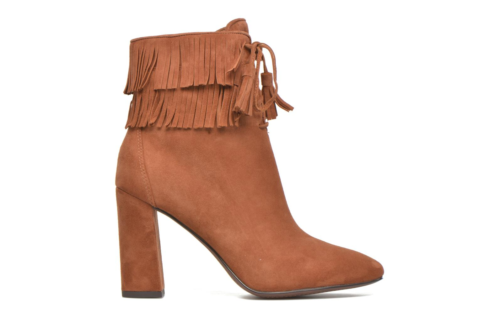 Ankle boots What For Westy Brown back view