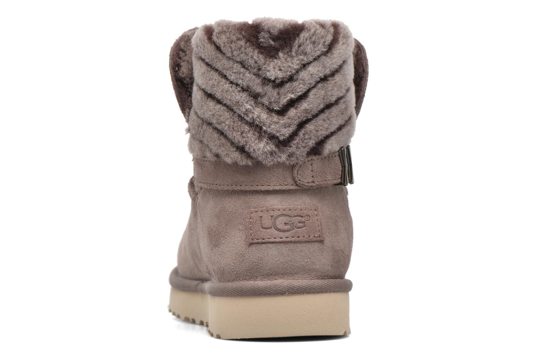 Bottines et boots UGG Adria Gris vue droite