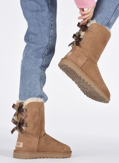 Stiefeletten & Boots UGG W Bailey Bow II braun ansicht von unten / tasche getragen