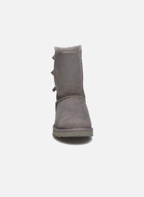 Stiefeletten & Boots UGG W Bailey Bow II grau schuhe getragen