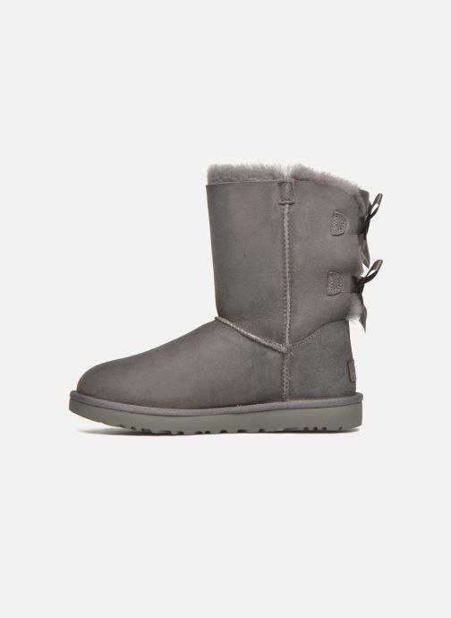 Bottines et boots UGG W Bailey Bow II Gris vue face
