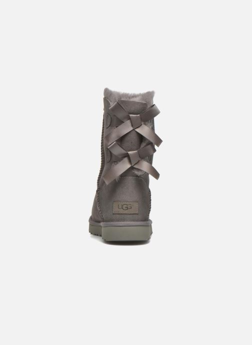 Botines  UGG W Bailey Bow II Gris vista lateral derecha