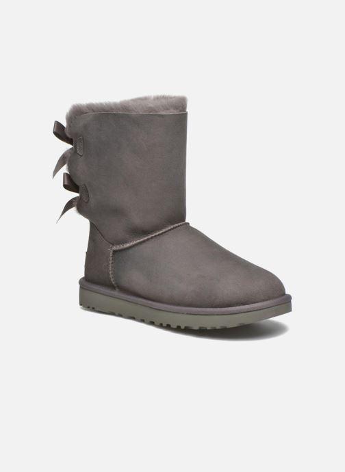 Bottines et boots UGG W Bailey Bow II Gris vue détail/paire