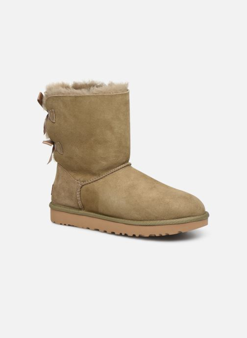 Bottines et boots UGG W Bailey Bow II Marron vue détail/paire