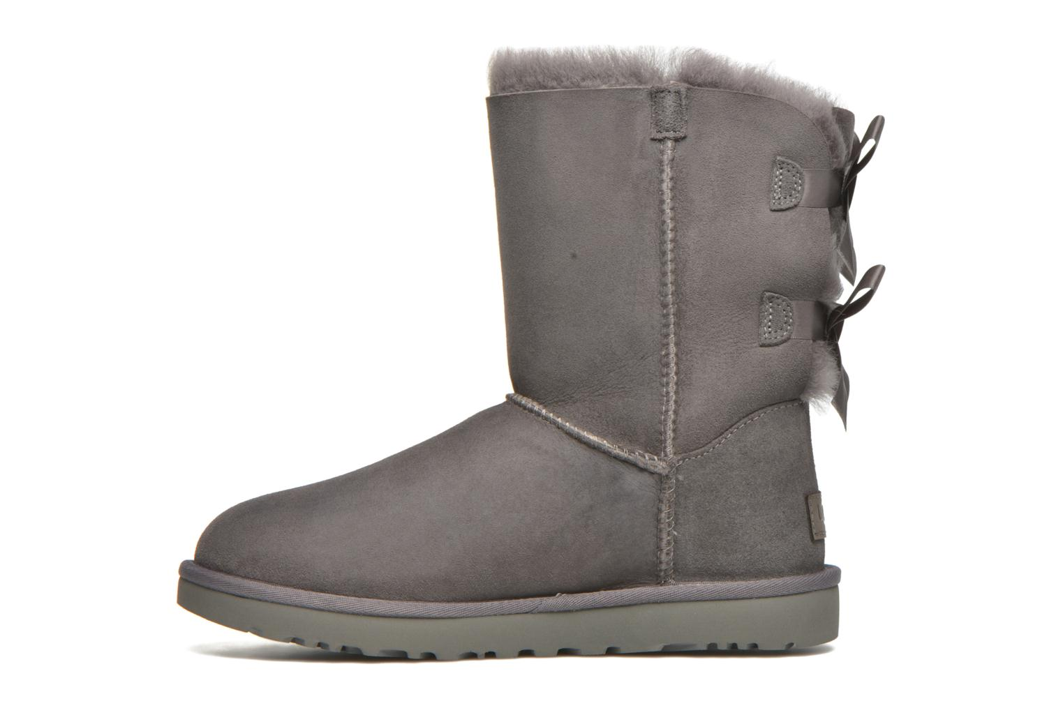 Bottines et boots UGG W Bailey Bow II Gris vue face