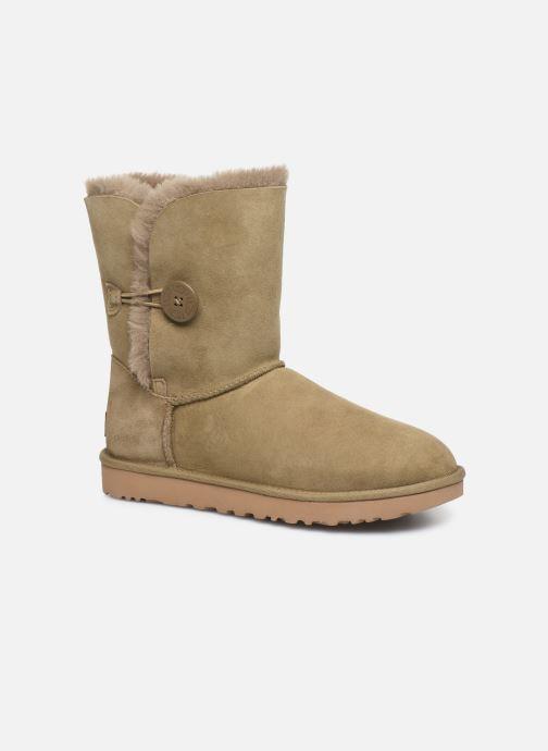 Bottines et boots UGG W Bailey Button II Beige vue détail/paire