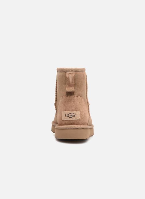 Bottines et boots UGG W Classic Mini II Beige vue droite