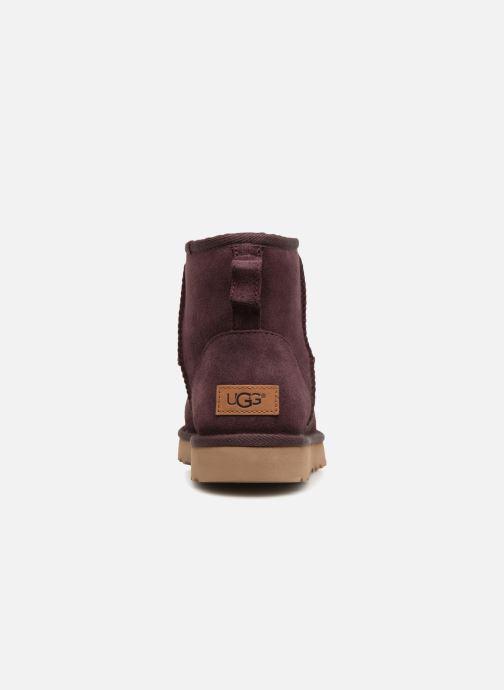 Bottines et boots UGG W Classic Mini II Bordeaux vue droite
