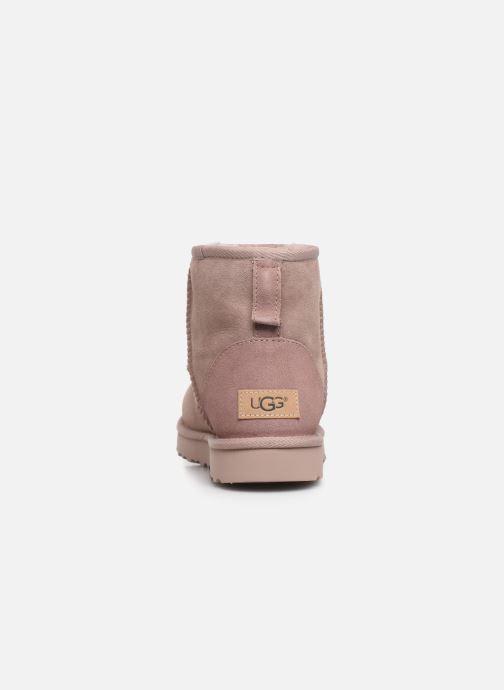 Boots en enkellaarsjes UGG W Classic Mini II Roze rechts