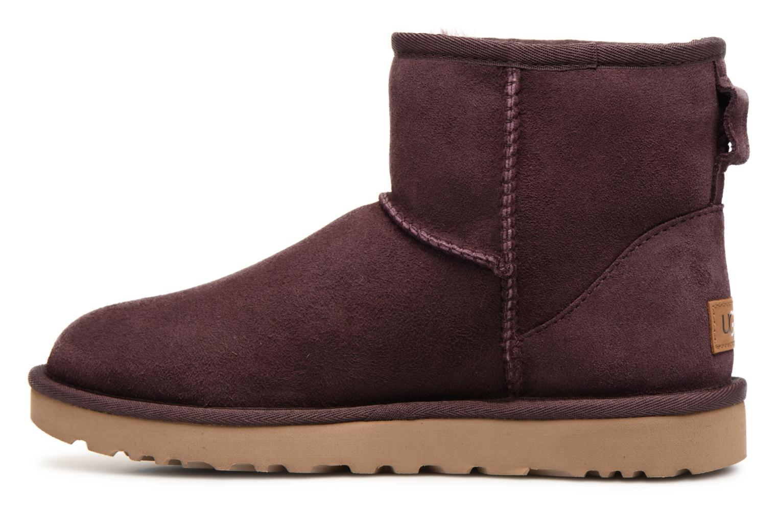 Bottines et boots UGG W Classic Mini II Bordeaux vue face