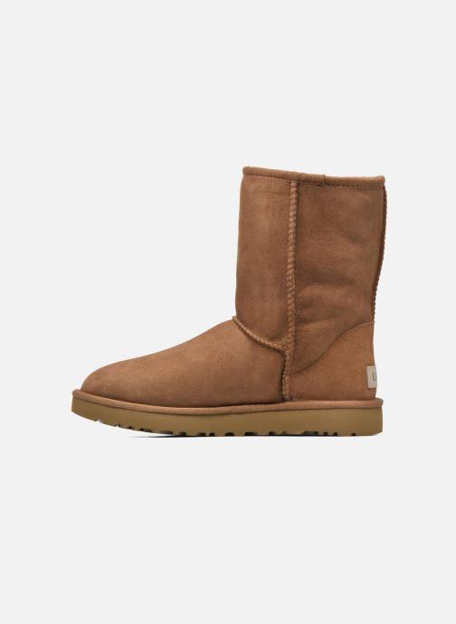 Boots en enkellaarsjes UGG W Classic Short II Bruin voorkant