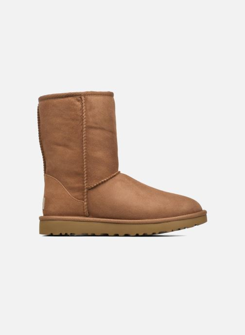 Ankle boots UGG W Classic Short II Brown back view