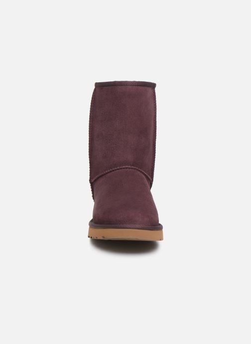 Bottines et boots UGG W Classic Short II Bordeaux vue portées chaussures