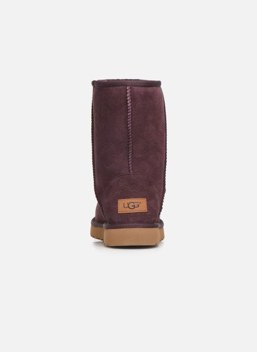Boots en enkellaarsjes UGG W Classic Short II Bordeaux rechts