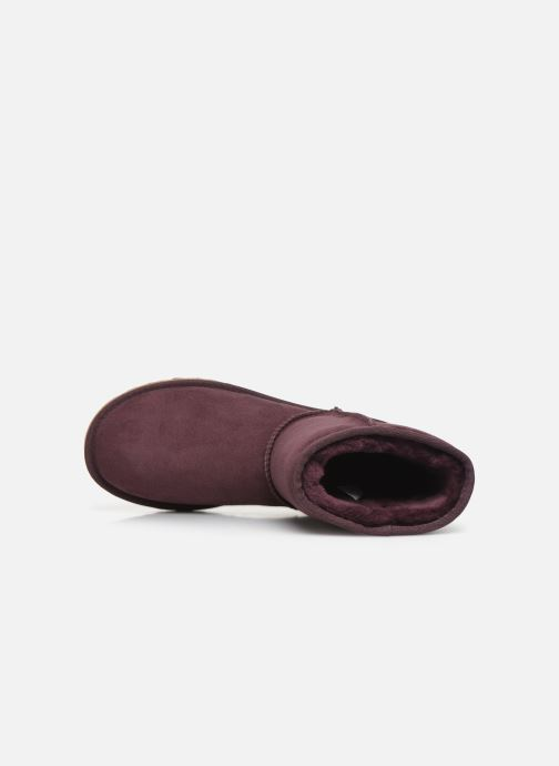 Bottines et boots UGG W Classic Short II Bordeaux vue gauche