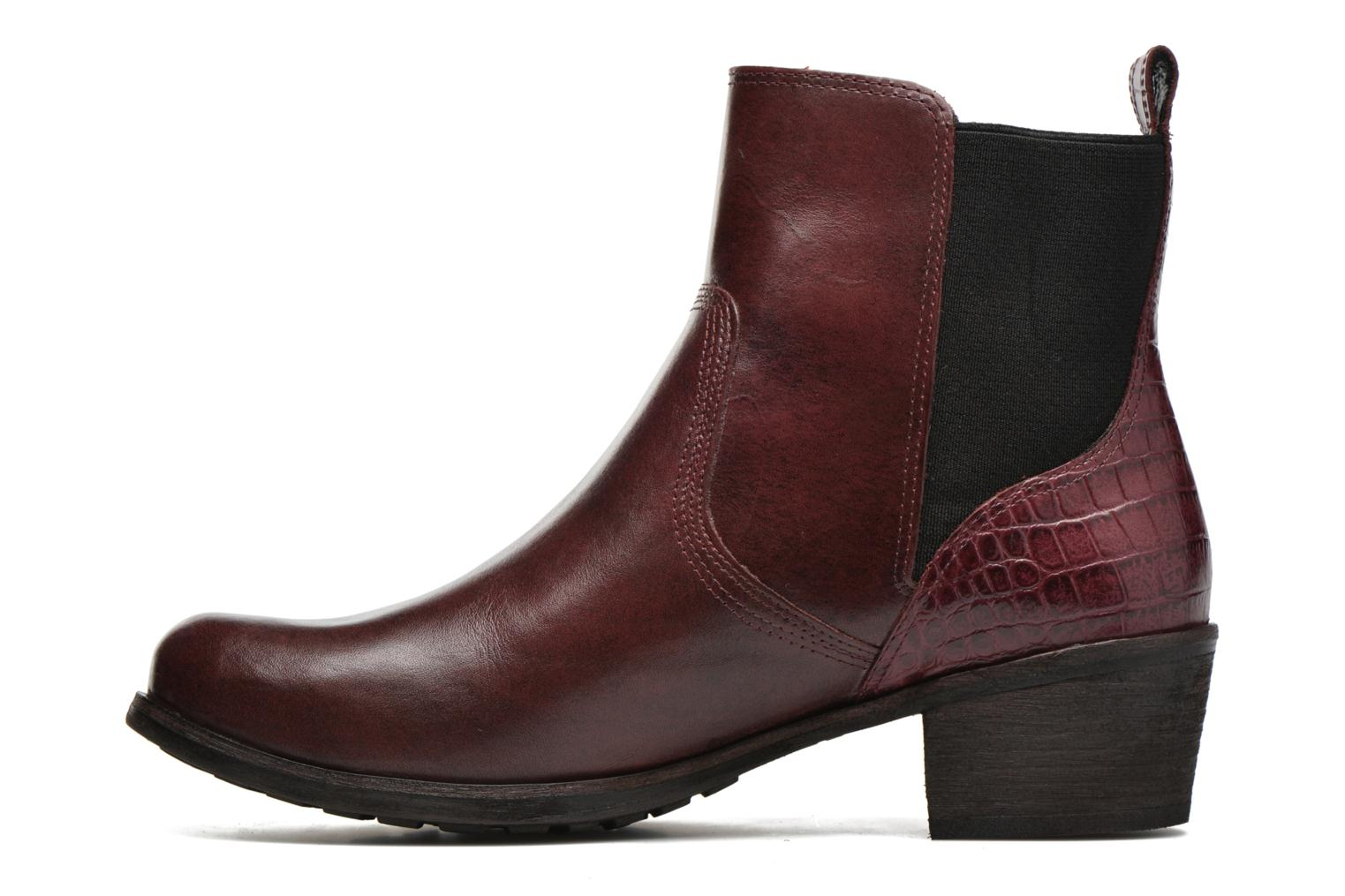 Bottines et boots UGG W Keller Croco Rouge vue face