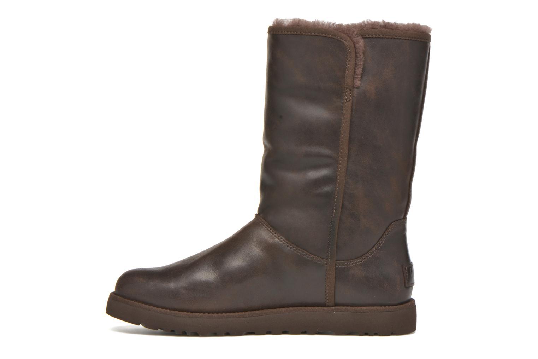 Bottines et boots UGG W Michelle Leather Marron vue face