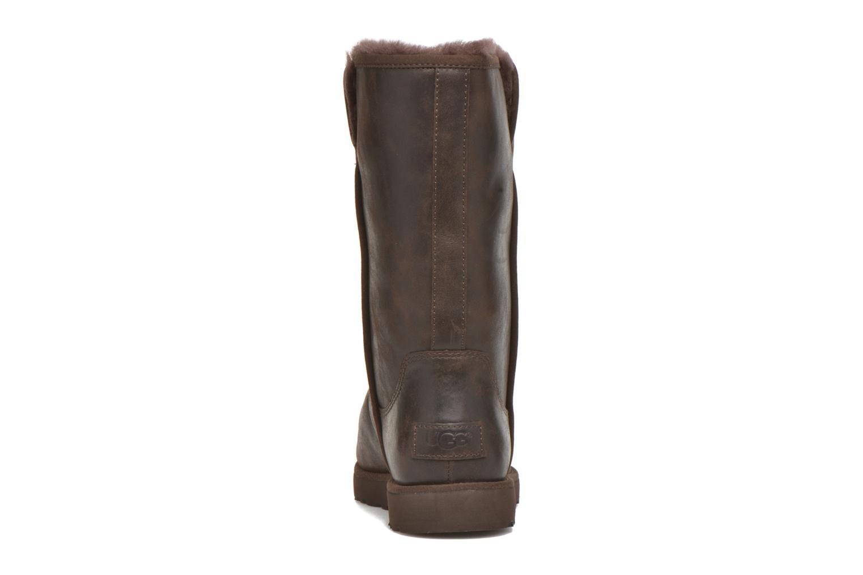 Bottines et boots UGG W Michelle Leather Marron vue droite
