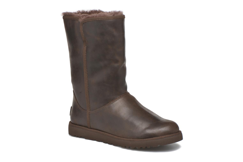 Bottines et boots UGG W Michelle Leather Marron vue détail/paire