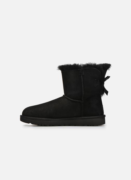 Boots en enkellaarsjes UGG W Mini Bailey Bow II Zwart voorkant