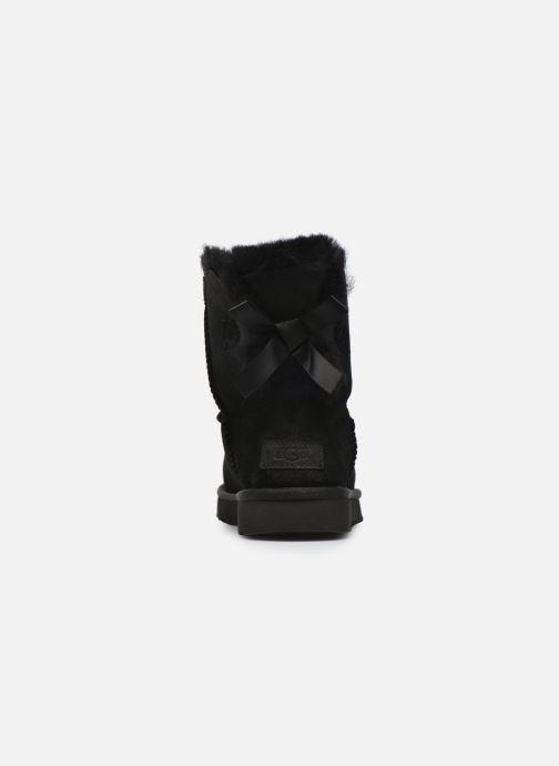Bottines et boots UGG W Mini Bailey Bow II Noir vue droite