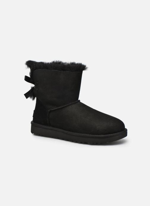 Bottines et boots UGG W Mini Bailey Bow II Noir vue détail/paire