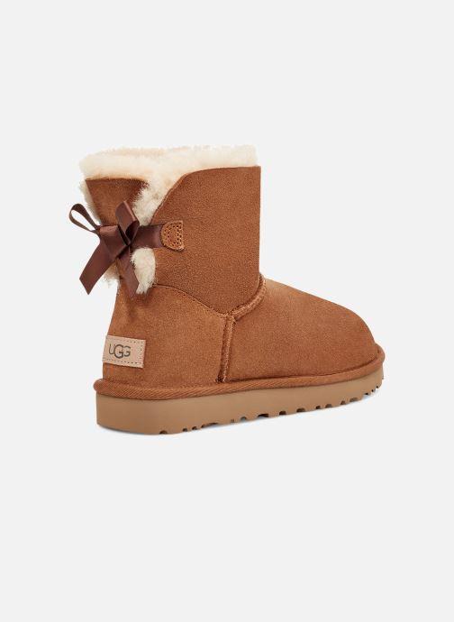 Bottines et boots UGG W Mini Bailey Bow II Marron vue portées chaussures