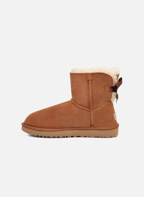 Bottines et boots UGG W Mini Bailey Bow II Marron vue face