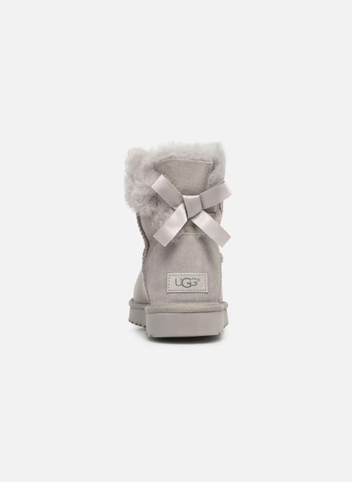 Bottines et boots UGG W Mini Bailey Bow II Gris vue droite